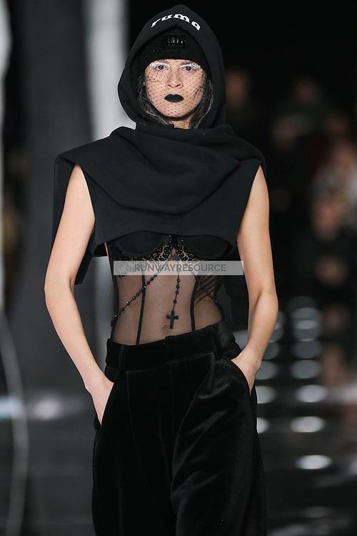 Ana Christina walks the runway wearing PUMA x FENTY by Rihanna Fall 2016 during New York Fashion Week on February 12, 2016