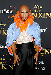 Kalen Allen at the World premiere of 'The Lion King' held at the Dolby Theatre in Hollywood, USA on July 9, 2019.