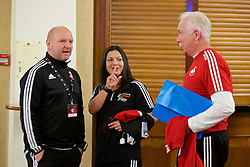 NEWPORT, WALES - Friday, May 20, 2016: Delegates meet up before the Football Association of Wales' National Coaches Conference 2016 at the Celtic Manor Resort. (Pic by David Rawcliffe/Propaganda)