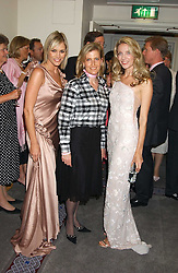 Left to right, JENNI FALCONER, HRH The COUNTESS OF WESSEX and SUMMER WATSON at a charity event 'In The Pink' a night of music and fashion in aid of the Breast Cancer Haven in association with fashion designer Catherine Walker held at the Cadogan Hall, Sloane Terrace, London on 20th June 2005.<br />