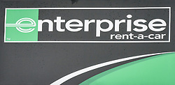 A Enterprise vehicle rental sign in Bristol, as the company was the highest rated worldwide vehicle rental firm with 78\% in an annual survey by Which? Travel magazine. Budget firm InterRent car hire has recorded the lowest customer satisfaction rating of any operator in seven years, according to the consumer group.