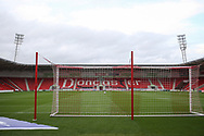 General view inside the Keepmoat Stadium before the EFL Sky Bet League 1 match between Doncaster Rovers and Ipswich Town at the Keepmoat Stadium, Doncaster, England on 20 October 2020.