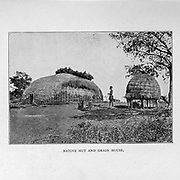 Native hut and Grain House from the book ' Boer and Britisher in South Africa; a history of the Boer-British war and the wars for United South Africa, together with biographies of the great men who made the history of South Africa ' By Neville, John Ormond Published by Thompson & Thomas, Chicago, USA in 1900