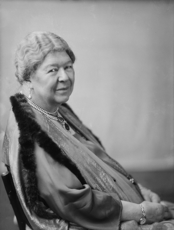 Marchioness of Aberdeen, philanthropist, author and advocate of women's rights, 1929