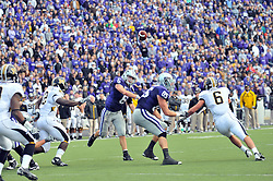 Nov 14, 2009; Manhattan, KS, USA; Kansas State quarterback Grant Gregory throws a pass in the fourth quarter in the game agains the Missouri Tigers at Bill Snyder Family Stadium. The Tigers won 38-12. Mandatory Credit: Denny Medley-US PRESSWIRE