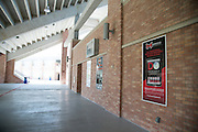 """Sponsorship banners located around the stadium in Allen, Texas on August 24, 2016. """"CREDIT: Cooper Neill for The Wall Street Journal""""<br /> TX HS Football sponsorships"""