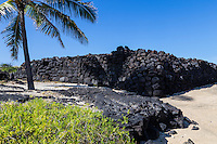 Hawaiian settlements thrived at Koloko for many years -  people that lived here raised crops, harvested fish and practiced their religion. To survive in a hot, arid environment Hawaiians used special fishing skills which included fishponds with knowledge of the location of fresh water.