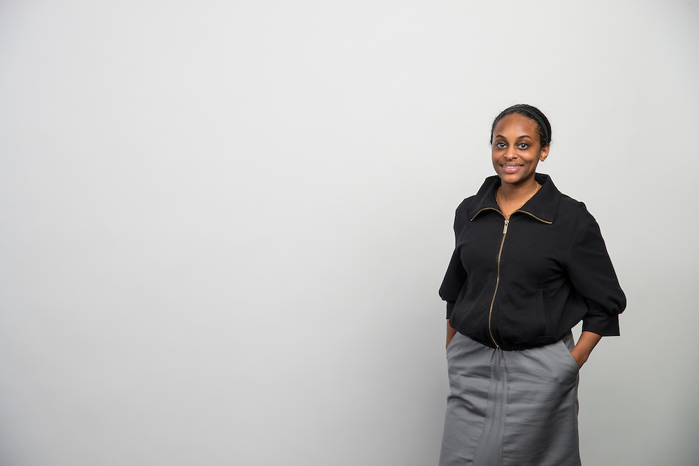 Meron Tekle poses for a photograph, July 23, 2014.