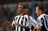 Fotball<br /> Premier League 2004/05<br /> Portsmouth v Newcastle<br /> 19. mars 2005<br /> Foto: Digitalsport<br /> NORWAY ONLY<br /> Newcastle's goal scorer Kieron Dyer celebrates the first goal.