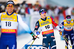 November 24, 2018 - Ruka, FINLAND - 181124 Sindre Bjørnestad Skar of Norway crosses the finish line when competing in a men's sprint classic technique quarterfinal during the FIS Cross-Country World Cup premiere on November 24, 2018 in Ruka  (Credit Image: © Carl Sandin/Bildbyran via ZUMA Press)