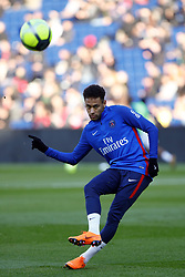 February 17, 2018 - Paris, France - Neymar Jr of Paris Saint-Germain looks on during warmup before the Ligue 1 match between Paris saint-Germain and Strasbourg at Parc des Princes on February 17, 2018 in Paris, France  (Credit Image: © Mehdi Taamallah/NurPhoto via ZUMA Press)
