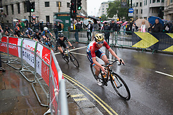 Christine Majerus (LUX) of Boels-Dolmans Cycling Team leans into a corner on Trafalgar Square during the Prudential Ride London Classique - a 66 km road race, starting and finishing in London on July 29, 2017, in London, United Kingdom. (Photo by Balint Hamvas/Velofocus.com)