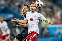 01.07.2018 NIZNY NOWOGROD NIZHNY NOVGOROD PILKA NOZNA (FOOTBALL) MISTRZOSTWA SWIATA ROSJA 2018 FIFA World Cup WM Weltmeisterschaft Fussball RUSSIA 2018 1/8 FINAL CHORWACJA - DANIA (CROATIA-DENMARK) NZ CHRISTIAN ERIKSEN IVAN RAKITIC FOTO LUKASZ SKWIOT/CYFRASPORT / NEWSPIX.PL --- Newspix.pl FRANCE OUT! PUBLICATIONxNOTxINxPOL 20180701CSLS0115