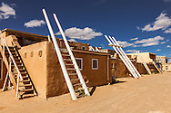 Acoma Pueblo, roof ladders, New Mexico