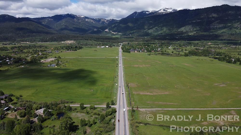 Aerial of Wyoming Highway 22