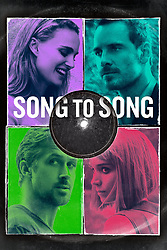 RELEASE DATE: March 17, 2017 TITLE: Song To Song STUDIO: Broad Green Pictures DIRECTOR: Terrence Malick PLOT: Two intersecting love triangles. Obsession and betrayal set against the music scene in Austin, Texas. STARRING: Poster Art. (Credit Image: © Broad Green Pictures/Entertainment Pictures/ZUMAPRESS.com)
