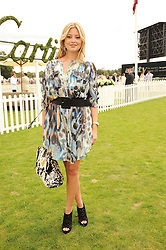HOLLY VALANCE at the Cartier International Polo at Guards Polo Club, Windsor Great Park, Berkshire on 25th July 2010.