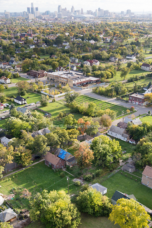 Hantz tree nursery and neighborhood, an example of urban farming in Detroit