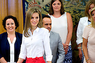 072814 Queen Letizia attends audiences at Palacio de la Zarzuela