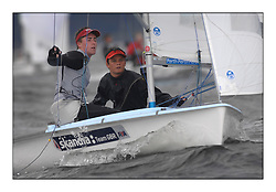 470 Class European Championships Largs - Day 5.GBR852, Philip SPARKS, David KOHLER,  RLYC...