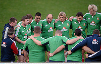 10 June 2013; Brian O'Driscoll, British & Irish Lions captain, speaks to his players during the captain's run ahead of their game against Combined Country on Tuesday. British & Irish Lions Tour 2013, Captain's Run, Number 2 Sports Ground, Newcastle, NSW, Australia. Picture credit: Stephen McCarthy / SPORTSFILE