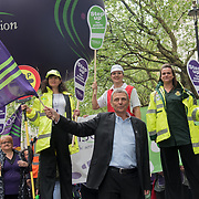 "Dave Prentis is a General Secretary of UNISON join the TUC march in London for ""A new deal for working people"" on 12 May 2018, London, UK."