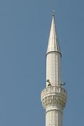Minaret of Ebu Beker Mosque, Xhamia e Madhe  Shkodër, Albania. 02Sep15