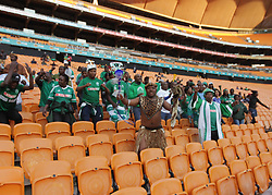 During the  clash between Chiefs FC and Amazulu FC at FNB stadium on Saturday 17 March 2018. At half time the match was still at (0-0)Amazulu fans dance and sing <br /> Picture: Timothy Bernard AfricanNewsAgency /(ANA)