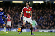 Michael Carrick of Manchester United in action. Barclays Premier league match, Chelsea v Manchester Utd at Stamford Bridge in London on Sunday 7th February 2016.<br /> pic by John Patrick Fletcher, Andrew Orchard sports photography.