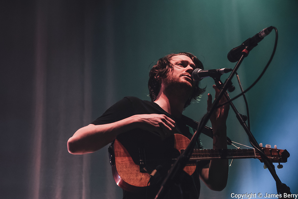 Beirut perform live at the Roundhouse, Camden, on Friday 12 February 2016. Picture shows Zach Condon.