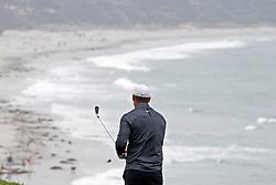 June 12, 2019 - Pebble Beach, CA, U.S. - PEBBLE BEACH, CA - JUNE 12: PGA golfer Brooks Koepka plays the 9th hole during a practice round for the 2019 US Open on June 12, 2019, at Pebble Beach Golf Links in Pebble Beach, CA. (Photo by Brian Spurlock/Icon Sportswire) (Credit Image: © Brian Spurlock/Icon SMI via ZUMA Press)