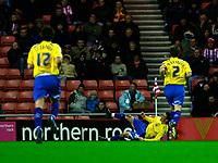 Photo: Andrew Unwin.<br />Sunderland v Preston North End. Coca Cola Championship. 30/12/2006.<br />Preston's David Nugent (C) celebrates his goal.