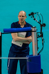 Coach Roberto Piazza of Netherlands in action during the CEV Eurovolley 2021 Qualifiers between Croatia and Netherlands at Topsporthall Omnisport on May 16, 2021 in Apeldoorn, Netherlands