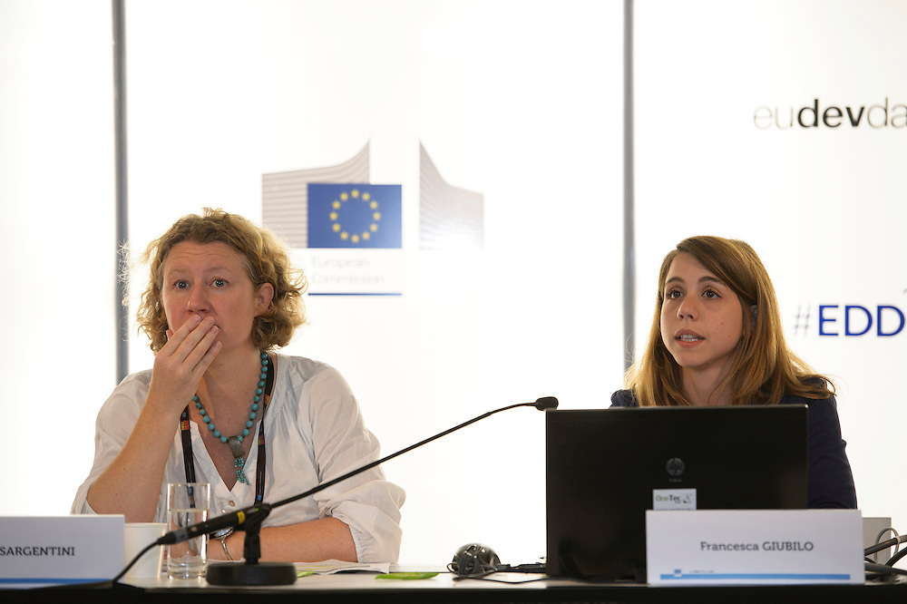 03 June 2015 - Belgium - Brussels - European Development Days - EDD - Trade - Empowering smallholders participation in global supply chains - Shivani Reddy , Policy officer - Judith Sargentini,<br /> Member of EP © European Union
