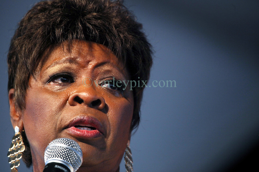 27 April 2012. New Orleans, Louisiana,  USA. .New Orleans Jazz and Heritage Festival. .Irma Thomas sings Gospel..Photo; Charlie Varley.