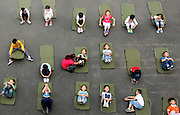 WUHAN, CHINA - (CHINA OUT) <br /> <br /> Children Practice Yoga In school<br /> <br /> Children have a Yoga class at a primary  in Wuhan, Hubei Province of China. <br /> ©ChinaFoto/Exclusivepix