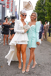© Licensed to London News Pictures. 11/09/2021.Doncaster, UK. Race-goers arrive for St Leger Day at Doncaster Racecource.  Photo credit: Ioannis Alexopoulos/LNP