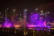 Singapore, the night show at Marina Bay