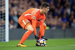 30 September 2017 -  Premier League - Chelsea v Manchester City - Chelsea goalkeeper Thibaut Courtois  - Photo: Marc Atkins/Offside