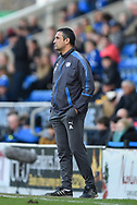 Chesterfield manager Jack Lester during the EFL Sky Bet League 2 match between Chesterfield and Notts County at the b2net stadium, Chesterfield, England on 25 March 2018. Picture by Jon Hobley.