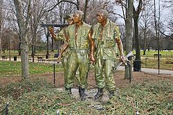 THEMENBILD - Three Servicemen: Die Statue stellt drei junge Soldaten in typischen Vietnamuniformen dar. Reisebericht, aufgenommen am 12. Jannuar 2016 in Washington D.C. // Three Servicemen: The statue depicts three young soldiers are in typical Vietnam uniforms. Travelogue, Recorded January 12, 2016 in Washington DC. EXPA Pictures © 2016, PhotoCredit: EXPA/ Eibner-Pressefoto/ Hundt<br /> <br /> *****ATTENTION - OUT of GER*****