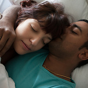 Gordola, Switzerland, October 18, 2015. Giusy 28 years old, found out to be affected by multiple scelrosis in 2011. Here she is together with her partner Vinod in a picture from the campaign 'Genitori si può, anche con la sclerosi multipla'.