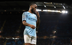Manchester City's Raheem Sterling during the UEFA Champions League match at the Etihad Stadium, Manchester.