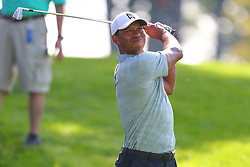 August 25, 2018 - Paramus, NJ, U.S. - PARAMUS, NJ - AUGUST 25:   Tiger Woods during the third round of The Northern Trust on August 25, 2018 at the Ridgewood Championship Course in Ridgewood, New Jersey.   (Photo by Rich Graessle/Icon Sportswire) (Credit Image: © Rich Graessle/Icon SMI via ZUMA Press)