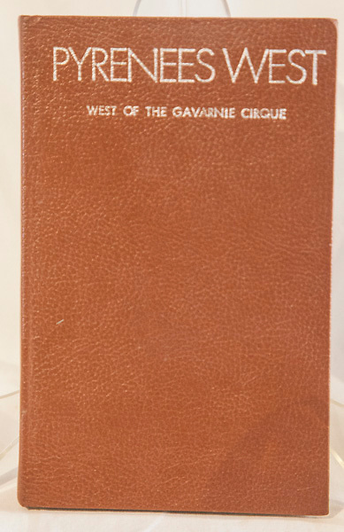 PYRENEES WEST -  West of the Gavarnie Cirque, Arthur Battagel, Gaston's West-Col guide, 1975 1st edn., - a guide for walkers and climbers, 130 page hardback $NZ15