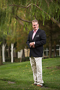 John McDowell poses for his political portrait in Redwood City, California, on August 12, 2014. (Stan Olszewski/SOSKIphoto)
