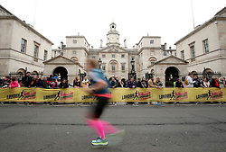 Runners pass Horse Guards Parade during the 2018 London Landmarks Half Marathon. PRESS ASSOCIATION Photo. Picture date: Sunday March 25, 2018. Photo credit should read: Steven Paston/PA Wire