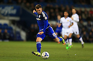 Anthony Pilkington of Cardiff city in action.  Skybet football league championship match, Cardiff city v Leeds Utd at the Cardiff city stadium in Cardiff, South Wales on Tuesday 8th March 2016.<br /> pic by Andrew Orchard, Andrew Orchard sports photography.