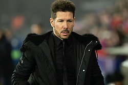 January 19, 2019 - Huesca, Aragon, Spain - Diego Simeone,Atletico de Madrid Manager during the Spanish League football match between SD Huesca andClub Atletico de Madrid at the El Alcoraz stadium in Madrid on January 19, 2019. Atletico wins 0-3. (Credit Image: © Daniel Marzo/Pacific Press via ZUMA Wire)