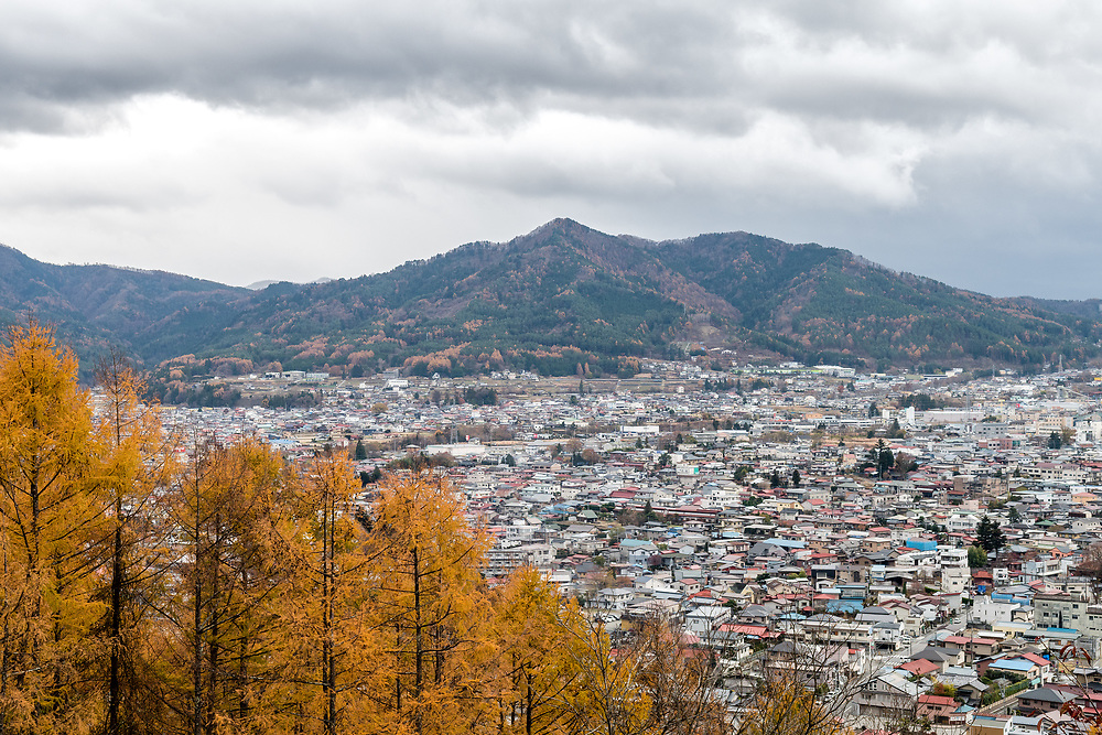 Looking over the village in Japan.